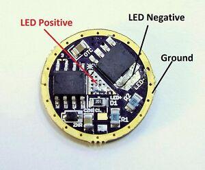 0-10+ Amp capable LED Flashlight driver board 17mm, Cree XHP70, XHP50, XML2, XPL