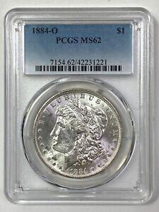 1884-O Morgan Silver Dollar - PCGS MS 62 - BLAST WHITE