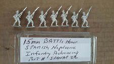 15mm Battle Honors Spanish Napoleonic  Infantry advancing