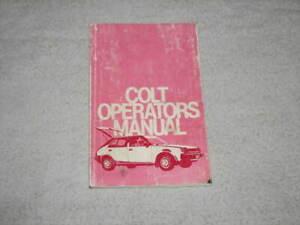 1981 MITSUBISHI COLT OWNERS MANUAL