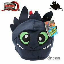 How to Train Your Dragon Cosplay Hat Toothless Night Fury with Tail Cap New Gift
