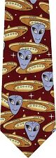 ALIENS AND THEIR SPACESHIPS NEW NOVELTY TIE