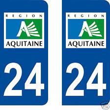 stickers autocollants plaques immatriculation auto Département Dordogne 24