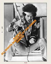 Jimi Hendrix Last Concert Incredible 11x14 Pro Lab Luster Paper Amazing Set See