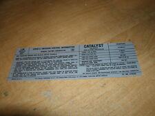 1978 CHEVROLET CAMARO 350 4V ENGINE EMISSIONS DECAL FOR HIGH ALTITUDE MODELS