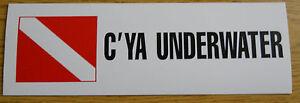 Scuba Diving Bumper Sticker See Ya U/W Decal DS36