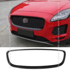 For Jaguar E-PACE 18-19 ABS Carbon fiber texture Front Grille Outline Trim cover
