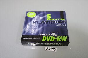 PLATINUM DVD-RW 5er Pack Slim-Case Speed 4x, 4,7 GB-Neu (S4132-R18))