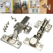 35MM SOFT CLOSE KITCHEN CABINET CUPBOARD DOOR HINGE HINGES EURO PLATE +SCREW