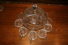 Bleikristall Bowle Set mit 8 Gläsern