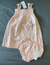 Baby Girl 24 Month Ralph Lauren Pink Smocked Sleeveless Summer Dress & Bloomers