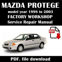 Official Workshop Service Repair Manual Mazda Protege 1998 2003 Wiring Ebay