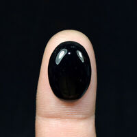 10.90 Cts. 100 % Natural Black Onyx Oval Cabochon Loose Gemstone