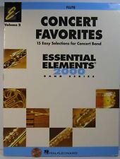 Hal Leonard Concert Favorites Essential Elements 2000 Vol.2 Flute