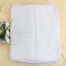White Cotton Baby Newborn Bib Diaper Gauze Muslin Squares Washcloth 30Pcs
