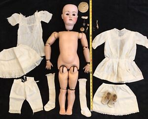 Vintage Antique Excavated  German  Porcelain Doll Torso Uncle Walt Doll Making Altered Art Excavated in a German Doll Factory Dump Oscarcrow
