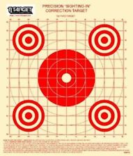 "KWPCS 100 Yd Rifle Sighting-In Target on target paper with 1"" Grid (50 red)"