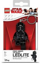 TIE FIGHTER PILOT LED LITE KEYCHAIN lego legos NEW minifigure mini STAR WARS