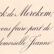 Charles De Coninck De Merckem 1880 Jeanne De Bourdeille