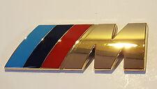 24ct BAÑADO EN ORO BMW M Sport Maletero Trasero Insignia lateral 24k 1