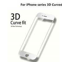 3D Full Cover Curved WHITE Tempered Glass Screen Protector For iPhone 6s Plus