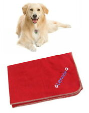 Spoilt Rotten Pets Personalised XL Beautiful Red Polar Fleece Dog Blanket