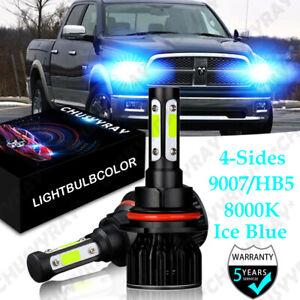 LED Headlight 9004 HB1 Hi Lo Beam Bulbs For Dodge Ram 1500 2500 3500 1994-2001