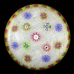 PERTHSHIRE 1984 PP11 Millefiori on White Lace Ground w/Picture Canes L/E