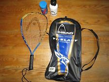 "Head Ti-Blast Titanium Racquetball Racquet with Carry Bag,3-5/8"" Grip, Excellent"