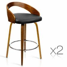 Artiss BA-TW-8565-BKX2-AB 2 Pieces Wooden Bar Stools - Black