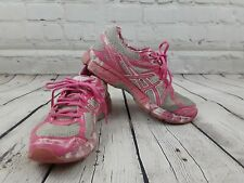 Asics Gel GT-1000 T4L8N White Pink Breast Cancer Running Shoes Women's Size 9