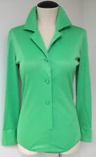 Emlio Pucci Saks Fifth Avenue Bright Summer Green Vintage Body Suit Shirt Blouse