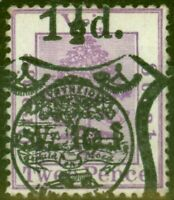 O.F.S 1900 Post Card Stamp 1 1/2d on 2d Brt Mauve SGP13 Fine Fresh Lightly Mtd