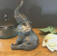 Elephant Small Cold Cast Bronze Art Sculpture Animal Lovers Gift Figurine