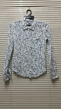 "Authentic Pure Blue Japan button upp pocket shirt/sz 0(16""/24"")made in japan"
