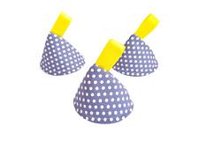 Blue Spots, Dots Pee Pee TeePee x3 / Wee Stop Cone Baby Shower, Newborn Boy Gift