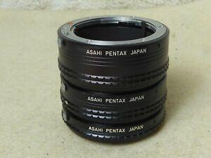 Asahi Pentax between Ring Set Between RINGSET Extension Tube 1 2 3-Pentax PK