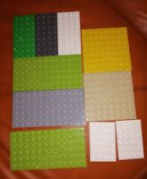10 LEGO DUPLO BASE BOARDS 6X4 8X8 8X4 12X6 LOVELY CONDITION BUILD BOARDS SET 3