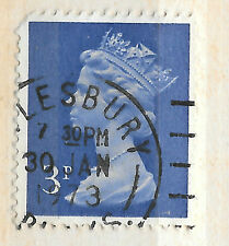 2 side bands - GB 3p blue machin posted 30th January 1973 - see scan