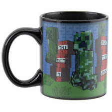 More details for minecraft creeper heat changing mug, home living, brand new