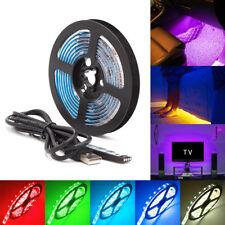 USB TV Backlight RGB LED Strip Light Kit Color Changing Battery Powered 50-200CM