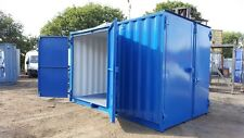 Rare Size 15x8 Ft Secure Container With Lock Box. Extra Double Doors.