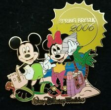 DISNEY WDW SPRING BREAK 2006 MICKEY AND MINNIE MOUSE ON THE BEACH LE 2000 PIN