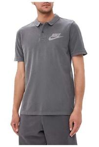 NEW Nike Sportswear NSW Matchup Washed Polo Men's Gray 886491-010