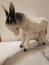 More details for large coopercraft grey & black donkey  (rare) h7