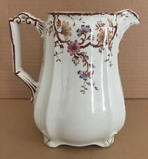 Rare Antique Brown Porcelain Ridgways (Ridgway) EWER PITCHER Carlton No. 72235