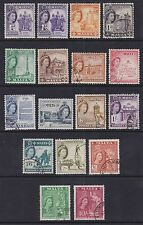Malta 1956-58 Used Part Set Definitives 16 values Elizabeth II War Memorial Paul