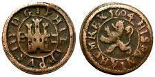 FELIPE III. 2 MARAVEDIS. 1604. SEGOVIA. ATRACTIVA EMISION