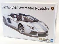 Aoshima 1/24 Scale Model Car Kit 58664 - Lamborghini Aventador Roadster
