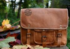 Vintage Classic Royal  Brown leather messenger men briefcase laptop shoulder bag